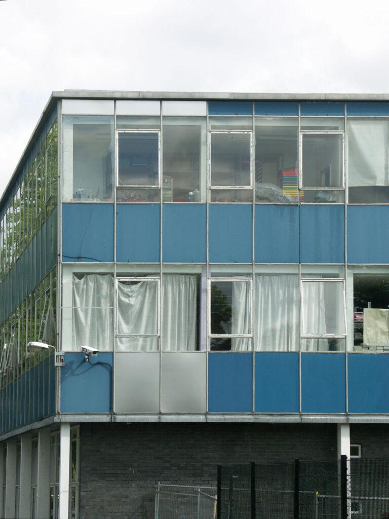 The facade prior to the transformation.