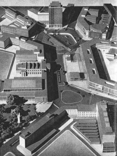 Model of the Elephant & Castle proposals from 1956 (image: Thecarandtheelephant)