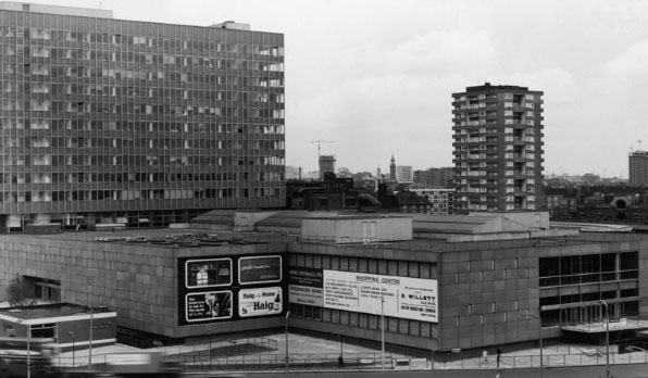 Alexander Fleming House. Now known as 'Metro Central Heights', the exterior of this 1960s development has since been fitted with blue and white cladding. (Image- Design Museum)
