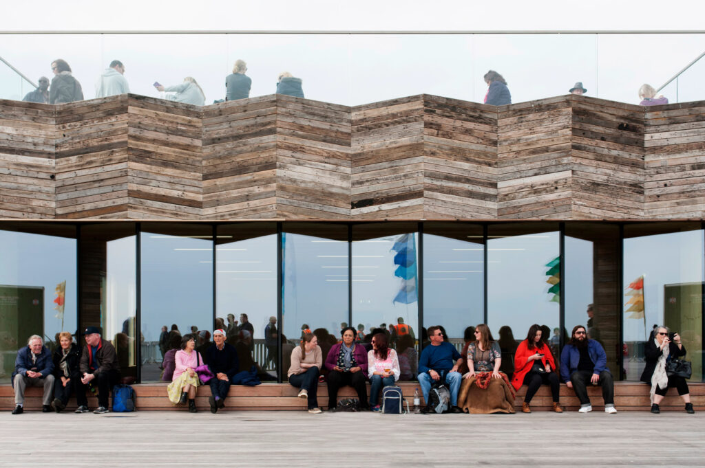 A new building made from the remains of the old pier