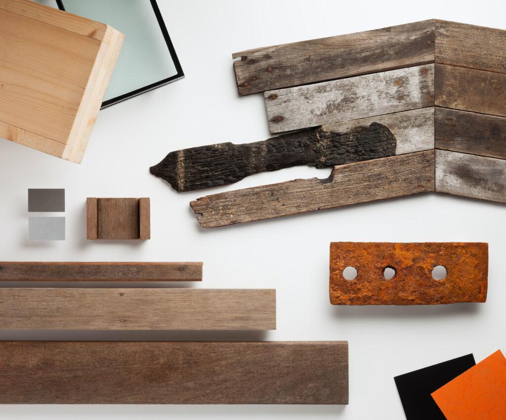 Hastings Pier materials board