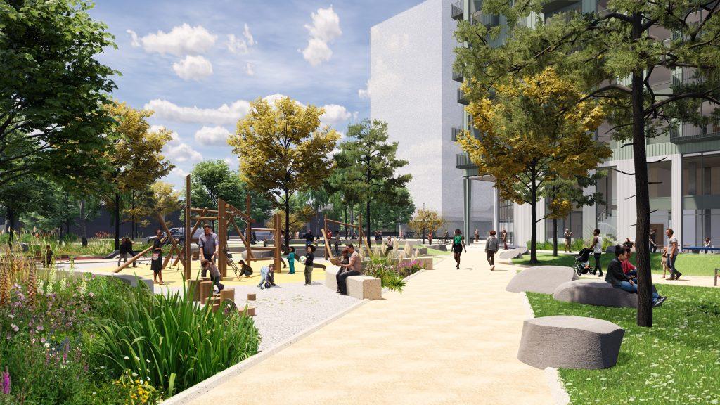 Play area at Better Queensway, LDA Design